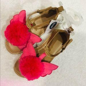 Old Navy Toddler Girl Flamingo Sandal Size 10